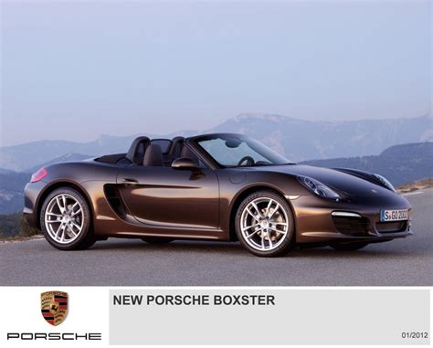 All New Porsche Boxster  First Official Pictures