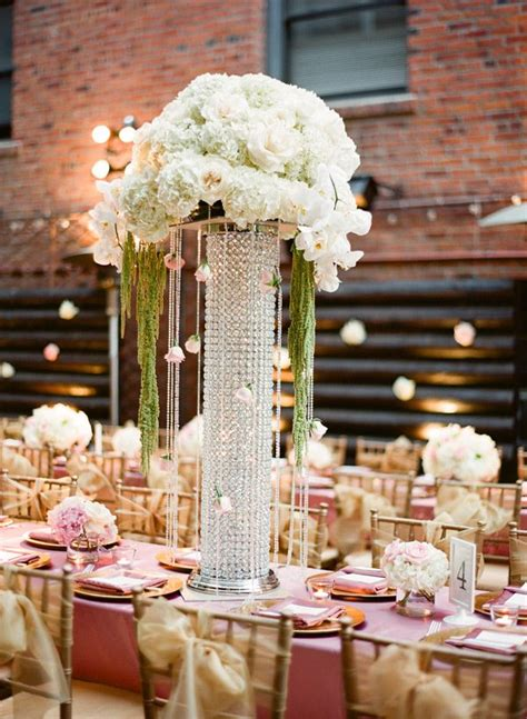 tall jeweled vases reception centerpieces centerpieces