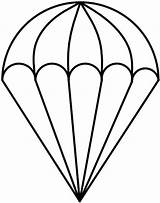 Parachute Drawing Coloring Template Clipart Sketch Pages Patterns Glass Parachutes Outline Cliparts Paratrooper Stained Print Drawn Pic Clip Easy Drawings sketch template