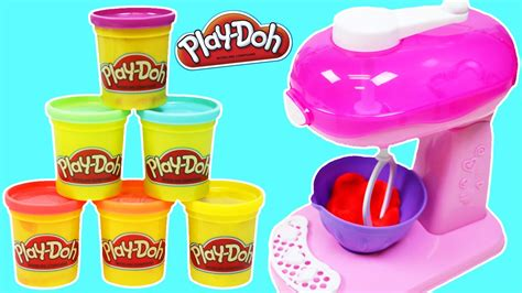 play doh color mixer learn rainbow colors with play doh the magic cool baker