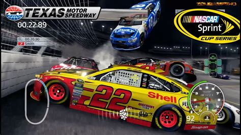 nascar  game texas motor speedway crash compilation