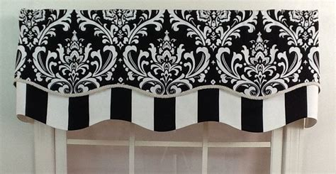 Black And White Valance by Damask Layered Shaped Valance In Black Navy Or Grey With