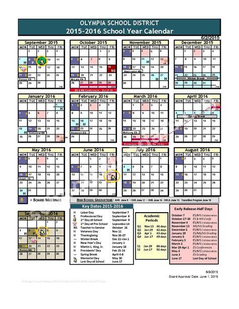 elementary school calendar 2015 2016 school calendar centennial elementary school