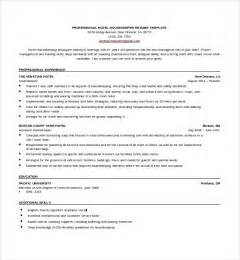 Hospital Housekeeping Description For Resume by Housekeeping Aide Resume Template Design