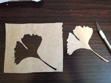 Ginkgo Leaf Stencil