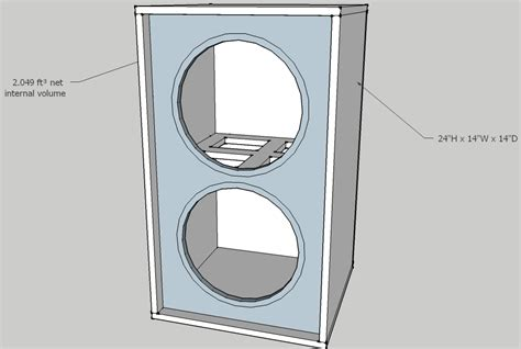 2x10 Bass Cabinet Plans by Sealed 2x10 Cabinet Design Basslite Sc10 16 Looking For