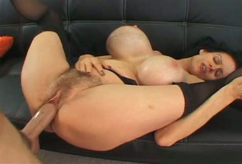 Brunette Milf With Ridiculous Silicon Juggs Gets Hammered