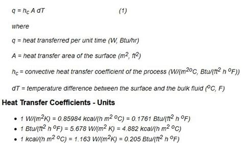Convection Heat Transfer Equation