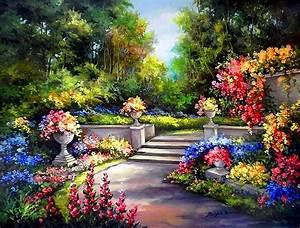 Spring Garden Bakgrund and Bakgrund