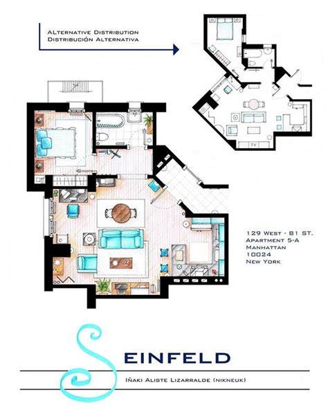 Floor Plans Of Homes From Tv Shows television show home floor plans hiconsumption