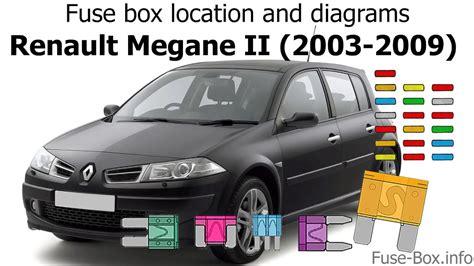 fuse box location  diagrams renault megane ii