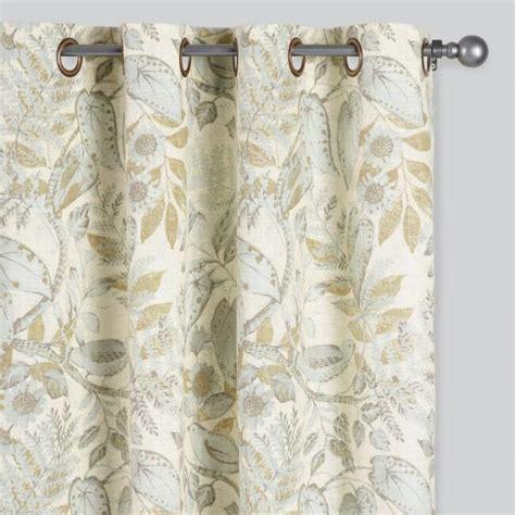 Fantasy Bird Floral Grommet Top Curtains Set of 2   World