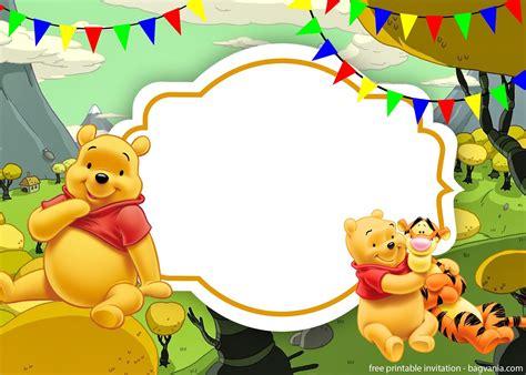 Winnie The Pooh Templates free printable winnie the pooh invitation template