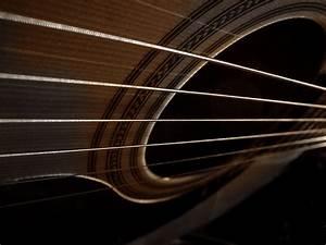 Blue And Black Acoustic Guitar 4 Widescreen Wallpaper ...