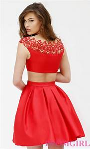 Homecoming dresses  Cap Sleeve Red Holiday Party Dress with Open Back - 2015 - Fashion u0026 Fancy