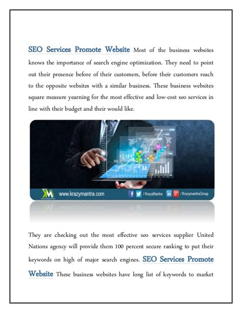 website seo services seo services to promote your website