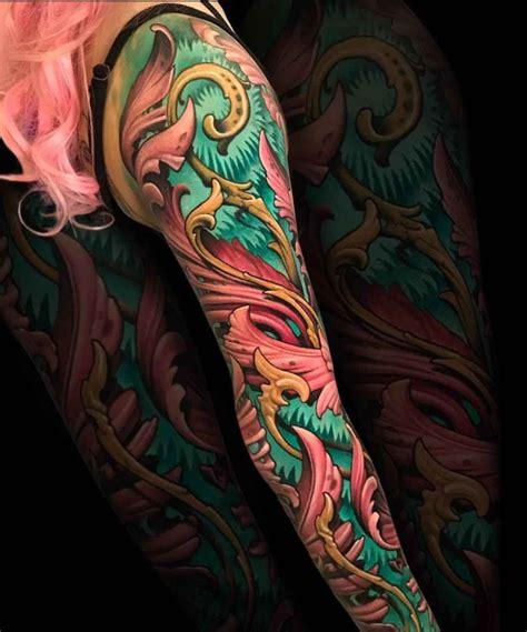 filigree organic tattoo sleeve  tattoo ideas gallery