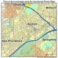 Aerial Photography Map of Summit, NJ New Jersey