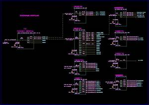 Wiring Diagram  Distribution Panels In Autocad