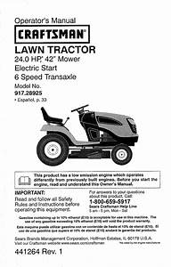 Craftsman 917289254 User Manual Tractor Manuals And Guides