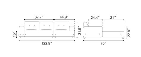 Couch Elevation Cad Dimensions Sectional