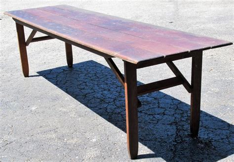harvest dining tables for sale folding caign harvest dining table for sale at 1stdibs