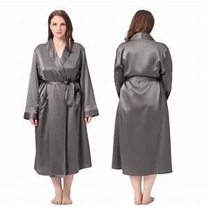 robe de chambre femme en soie 22 momme poignet dentelle With robe de chambre grande taille