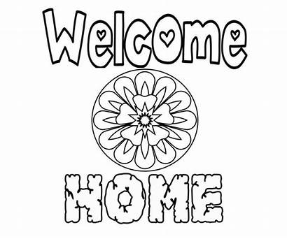 Welcome Coloring Pages Printable Heart Wonderful Freecoloring
