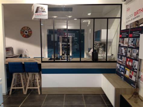 cloison vitree cuisine cuisine avec cloison industrielle vitrée castorama axioma