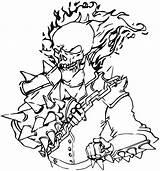 Ghost Rider Coloring Ghostrider Cartoon Coloringway sketch template