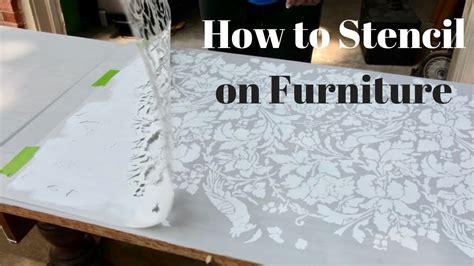 stencil  furniture diy tutorial thrift diving