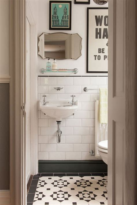 Small Bathroom Black And White by 27 Small Black And White Bathroom Floor Tiles Ideas And