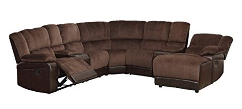 Homelegance 5 Piece Microfiber/bonded Leather Sectional