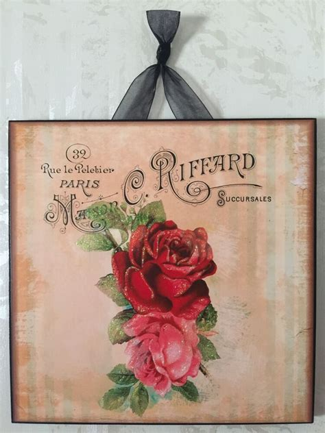 Shop the top 25 most popular 1 at the best prices! Vintage Paris Shabby Rose Wall Decor Sign Plaque French ...