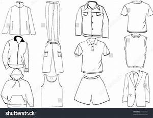 Clothes Template Collection Stock Vector Illustration