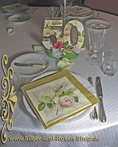 Tischdeko 40 Geburtstag : papierservietten gold 40x40 silber und rosen shop ~ Frokenaadalensverden.com Haus und Dekorationen