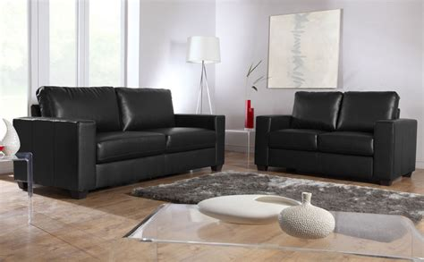 Black Settee by Mission Black Leather Sofa Sofas Settee Ebay