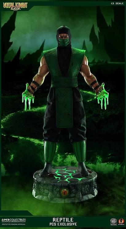 Reptile Mortal Kombat Klassic Pcs Statue Ex
