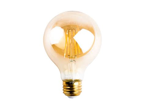 tcp dimmable 5w 2500k vintage filament g25 led bulb