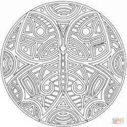 Mandalas Für Experten by Dibujo De Mandala Celta Con Mariposa Para Colorear