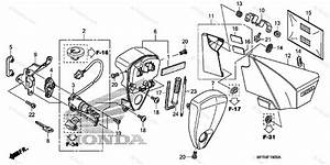 Honda Motorcycle 2010 Oem Parts Diagram For Side Cover