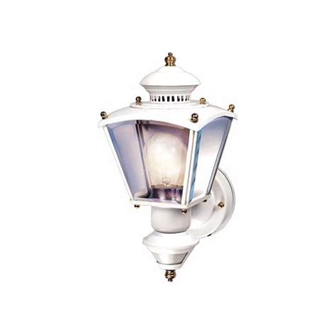 charleston coach white motion sensor outdoor wall light