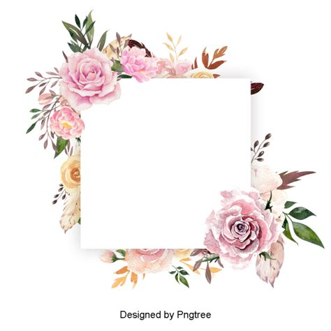 beautiful  watercolor floral wreath floral clipart