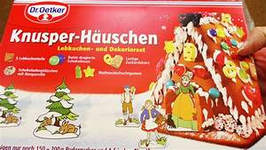 Lebkuchenhaus Selber Machen : lebkuchenhaus von dr oetker unboxing knusper h uschen ~ Watch28wear.com Haus und Dekorationen