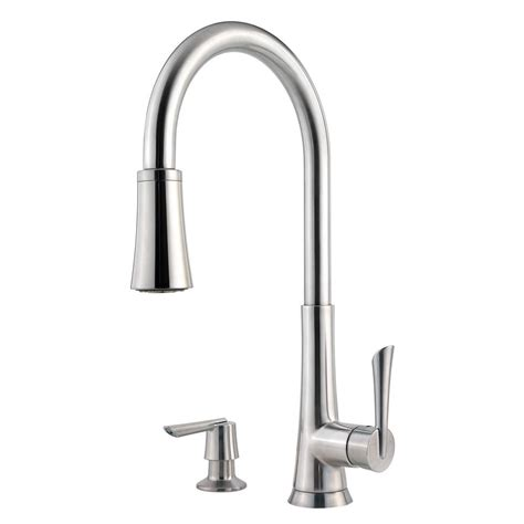 Pfister Faucets Home Depot by Pfister Stainless Steel Pull Faucet Pull