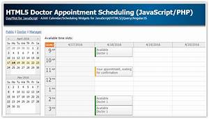 html appointment calendar tutorial html5 doctor appointment scheduling javascript