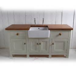 kitchen sink furniture free standing kitchen sink unit by eastburn country furniture notonthehighstreet com