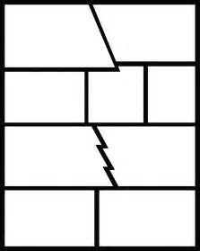 Blank Comic Book Layout Template Pages