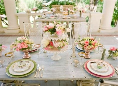 shabby chic wedding table settings garden place setting shabby chic wedding pinterest gardens wedding and green table