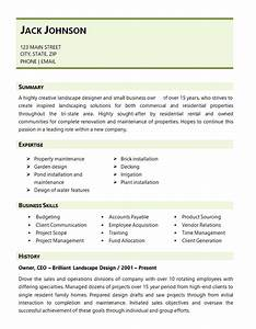 landscaping resume examples examples of resumes With landscaping resume examples